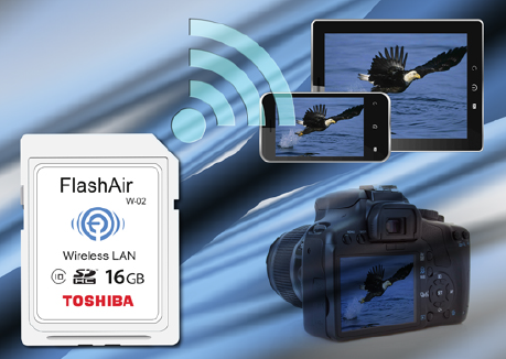 The latest 16GB FlashAir offering doubles card capacity, enables easy and flexible sharing of photos, and operates at speeds that reduce data transfer time by 30 percent.