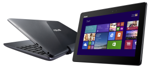 The tablet weighs 550 grams; in laptop mode, the T100 weighs 1.07 kilograms.
