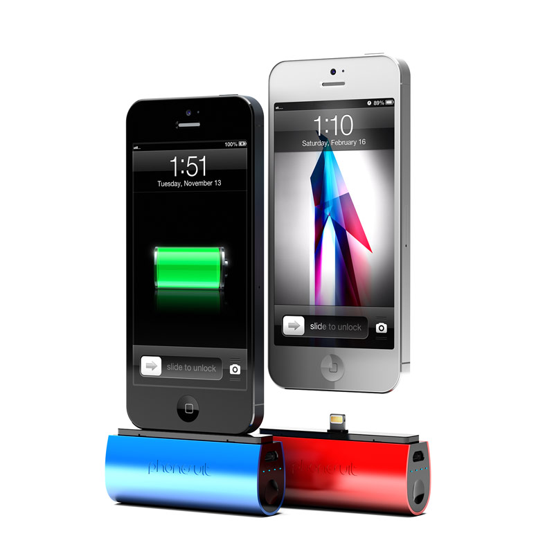 The Phonesuit Flex Pocket Charger is a portable power source for Apple or Android Smartphones.