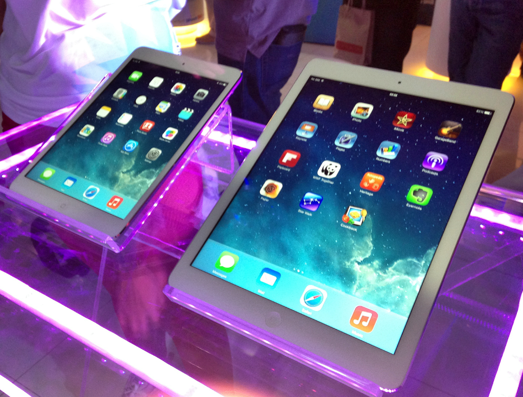 The iPad Mini with Retina Display and the iPad Air.