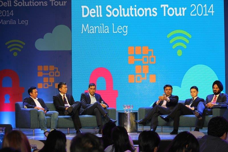 Dell, Intel and Microsoft executives during Q&A (from left): Mon Delos Reyes, Multinational OEM Accounts Consumer Channels Group, Microsoft Philippines; Christopher Syling, Business Development Manager, Intel Philippines; Sumir Bhatia, Regional Director, Enterprise Solutions, Dell South Asia; Saleh Haji Munshi, Managing Director, Indonesia and SADMG, Dell; Christopher Papa, Country Manager, Dell Philippines; Harjeet Singh Rekhi, General Manager for South Asia Developing Markets, Dell