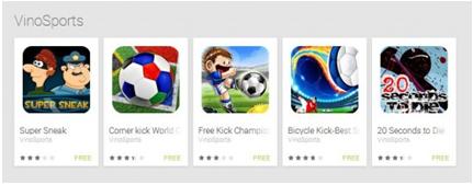 Fake gaming apps