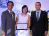 Epson Philippines Corporation (EPC) awarded Thinking Tools, Inc. as the Top Epson Regional Partner inVisayas under its Fiscal Year 2013. Shown are (L-R) Toshimitsu Tanaka, EPC Country Manager, Virgin Tan,General Manager of Thinking Tools, Inc., and and Renato M. Serrano, Jr., EPC Regional Sales Department Head