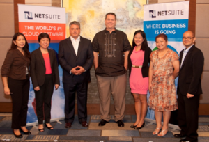 Coca-Cola Foundation and Big Chill Migrate to NetSuite. Shown in photo are (left to right): Ting Cabalza, Project Manager, Coca-Cola Foundation Philippines; Cecile Alcantara, President, Coca-Cola Foundation Philippines; James Dantow, VP for Worldwide Support and GM for the Philippines, NetSuite; Rusty Lemon, Chief Operating Consultant, Big Chill; Rubie Casana-Villamor, Project Manager, IT Group Inc.; Aly Capote, Head of Operations, IT Group Inc.; and Jan Pabellon, Principal Product Manager for Asia Pacific and Japan, NetSuite.