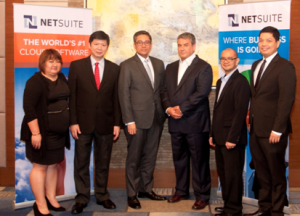 Kaisa Consulting and Questronix Corporation Partner with NetSuite to Meet Growing Demand for Cloud Solutions.. Shown in photo (left to right) are: Bernadette Cadaing, Channel Manager, NetSuite; KarWai Wong, Director, Questronix; Michael Dionisio, President, Questronix; James Dantow, VP for Worldwide Support and GM for the Philippines, NetSuite; Jan Pabellon, Principal Product Manager for Asia Pacific and Japan, NetSuite; and Charlie Villegas, Business Unit Head, Kaisa Consulting.