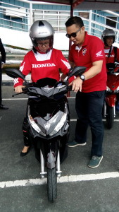 Made for the young generation, the scooter was recently unveiled to motoring journalists who got to test drive the scooter at the Honda Safety Driving Center.