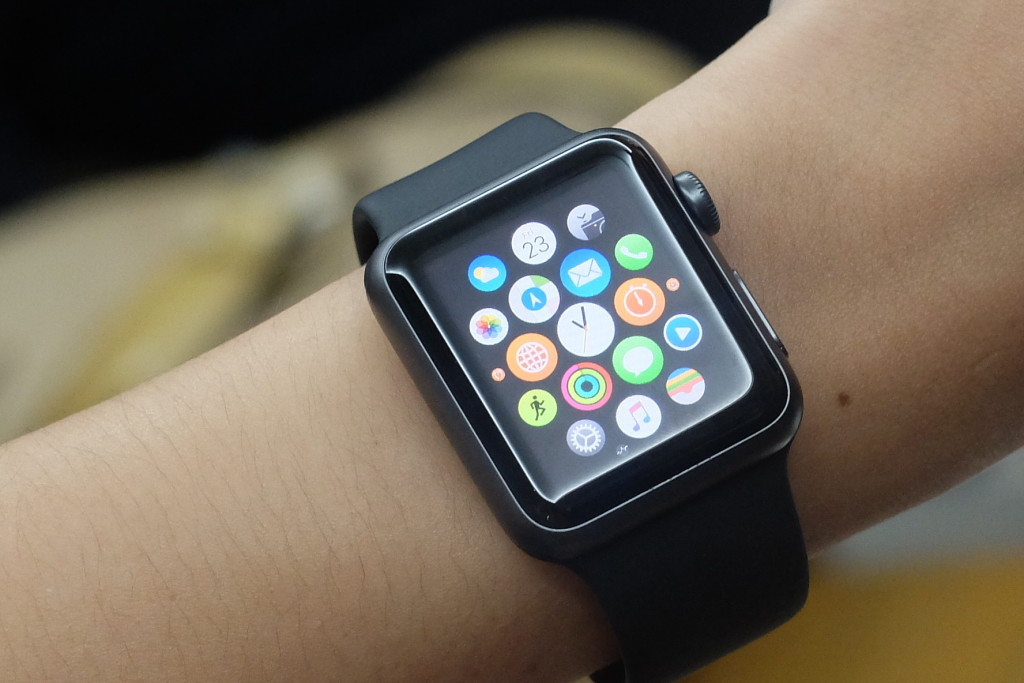 THE APPLE WATCH SPORT EDITION. Apps that come pre-installed in the Apple Watch include Messages, Mail, Weather, Calendar, Maps, Passbook, Music, Photos, and more. PHOTO: MELBA BERNAD