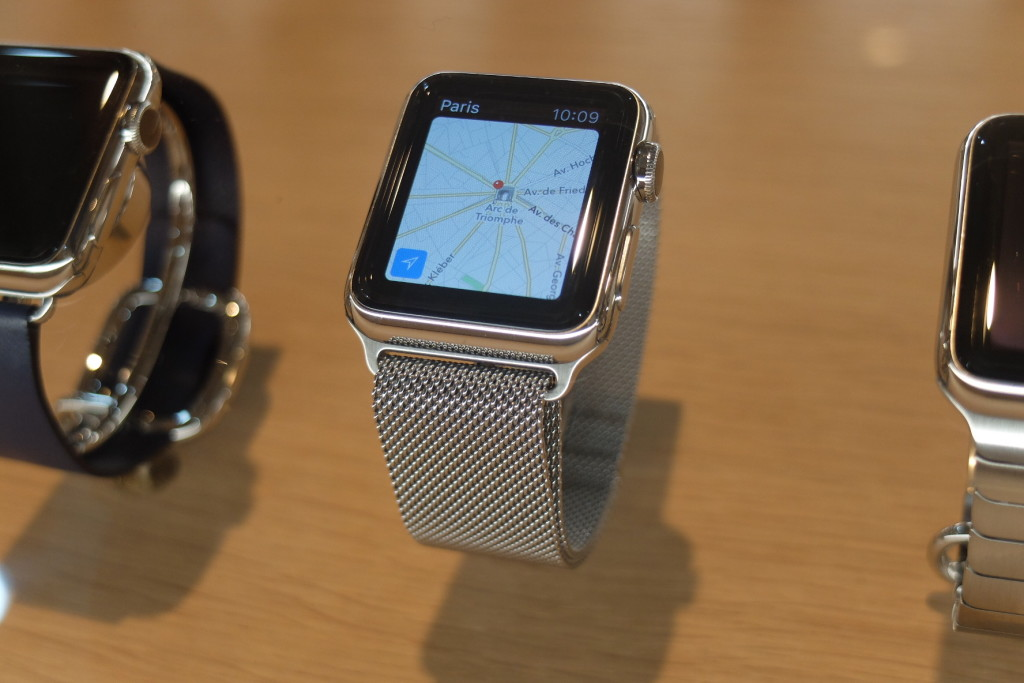 The Apple Watch with 38mm Stainless Steel Case with Milanese Loop has an SRP of Php36,990. PHOTO BY MELBA BERNAD
