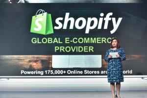 Globe myBusiness SVP Martha Sazon announces partnership with leading e-commerce platform Shopify