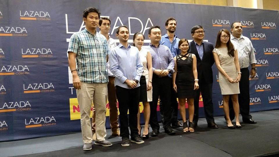Inanc Balci, CEO of Lazada Philippines, together with merchants and suppliers, announces this year's Lazada Online Revolution Sale.