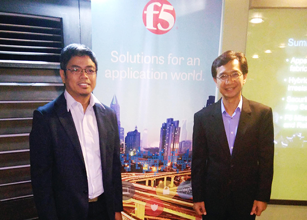 F5 Networks Philippines Senior System Engineer Jobert David and F5 Networks Philippines Country Manager Oscar Visaya announce the findings of the State of Application Delivery 2015 (SOAD) survey