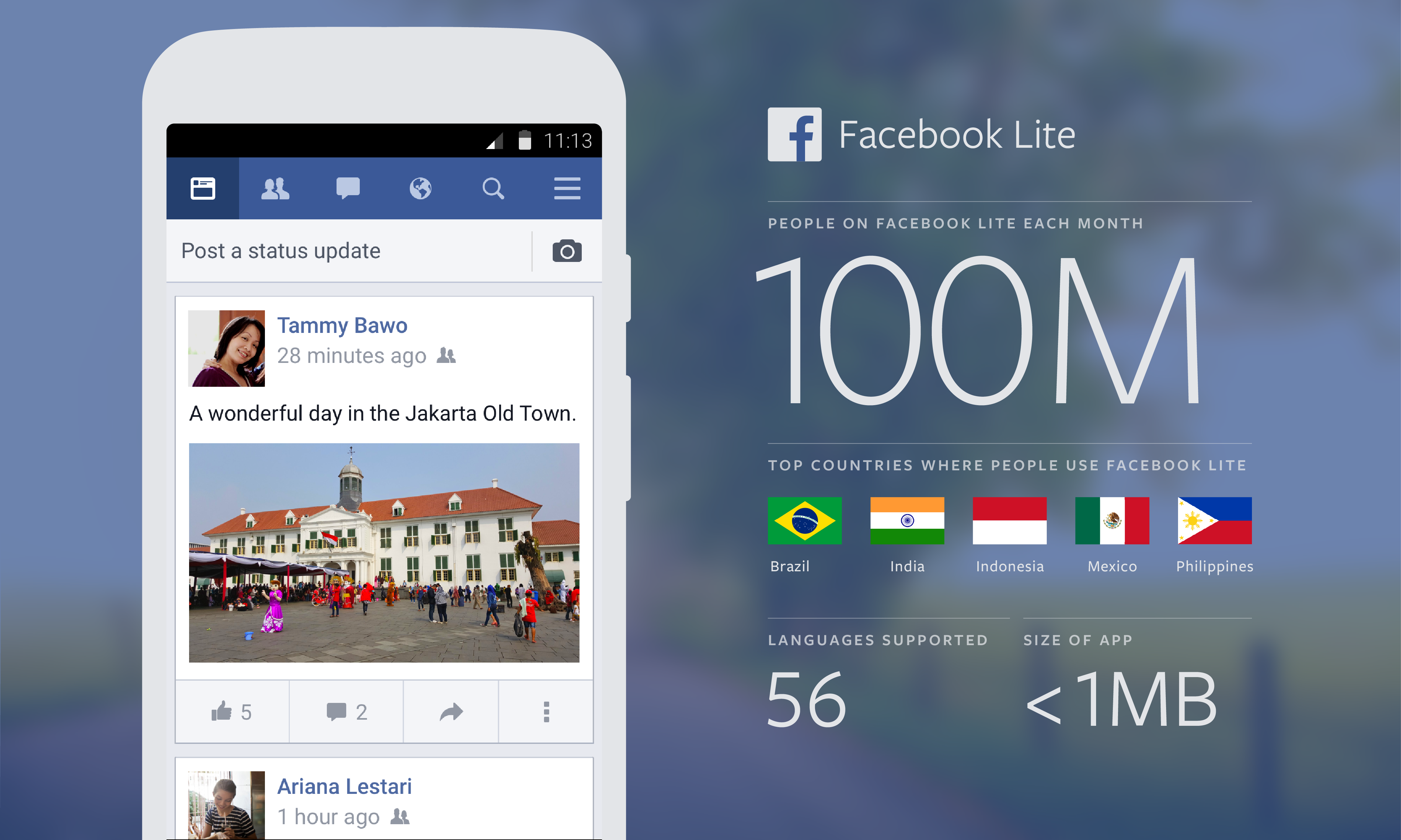 how to change language on facebook lite