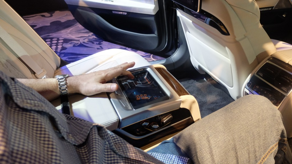 The BMW Touch Command is an innovative new multifunctional control unit being offered in the all-new BMW 7 Series. This removable tablet with a screen diagonal of 7 inches can be used from any seat and even when outside of the vehicle. PHOTO BY MELBA BERNAD
