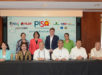Present during the partnership ceremony held at the Bangko Sentral ng Pilipinas were (seated, from left) FINTQ CEO Lito M. Villanueva, Sun Life of Canada (Philippines), Inc. President and CEO Riza Mantaring, LANDBANK President and CEO Gilda E. Pico, PLDT, Smart, and Voyager Chairman Manuel V. Pangilinan, Department of Education Sec. Bro. Armin Luistro FSC, Bangko Sentral ng Pilipinas Deputy Governor Nestor A. Espenilla, Insurance Commission Commissioner Emmanuel Dooc, and Voyager Innovations President and CEO Orlando B. Vea. They are joined by (standing, from left) BSP Head of the Inclusive Advocacy Staff Pia Roman Tayag, LANDBANK Branch Banking Sector Head EVP Jocelyn DG Cabreza, Sun Life Financial Asia President Kevin Strain, and DepEd External Partnership Service Head Dir. Margarita Ballesteros.