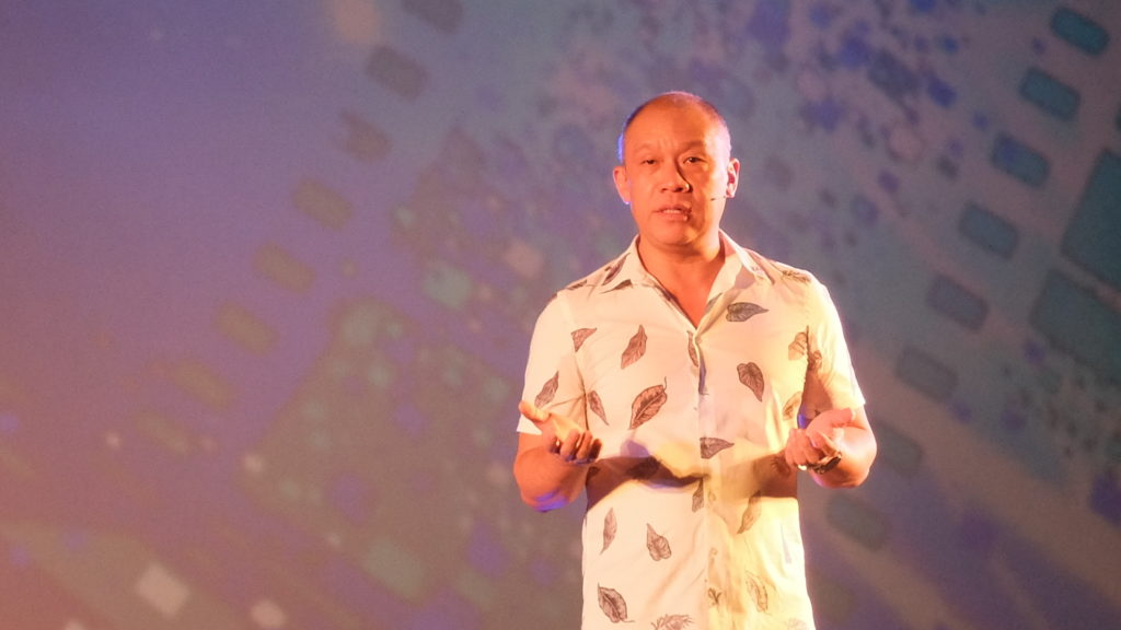 """""""It's now time [to improve our fixed broadband network] for us to be able to deliver all the content we are creating,"""" Ernest Cu, Chief Executive Officer and President of Globe Telecom Inc. PHOTO: MELBA BERNAD"""