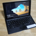 LAPTOP MODE: The Alcatel Plus 10 Windows + LTE Keyboard.