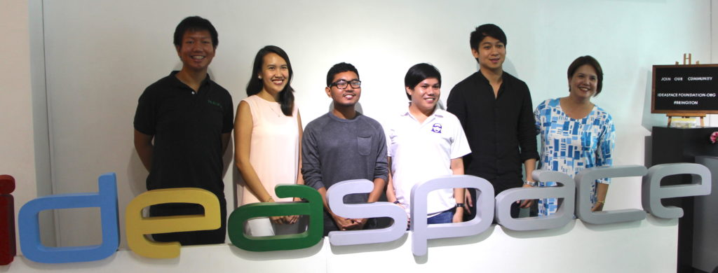 From left Cleaning Lady's Okie King; Cropital's Ruel Amparo; Investagrams' JC Bisnar; Tarkie's Rio Ilao; and Tralulu's Andrew Cua
