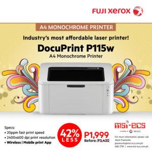Fuji Xerox DocuPrint P115w Poster 1