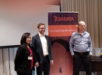 From left: Ella Mae Ortega, Country Manager, Teradata; Martin Oberhuber, Principal Data Scientist and International Practice Lead, Think Big; Stephen Brobst, CTO, Think Big