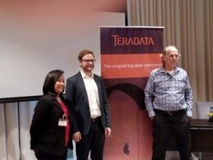 From left: Ella Mae Ortega, Country Manager, Teradata; Martin Oberhuber, Principal Data Scientist and International Practice Lead, Think Big; Stephen Brobst, CTO, Think Big