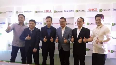 DELSAN OFFICE SYSTEMS CORP. EXECUTIVES. From left: Dondi Santos, Marketing Manager; Roberto Tagamolia, AVP-Technical Services; Glenn Gucor, VP & COO; Ody Santos, President & CEO; Toynbee Navarro, General Manager-VISMIN; Glenn Icaro, Sales Director