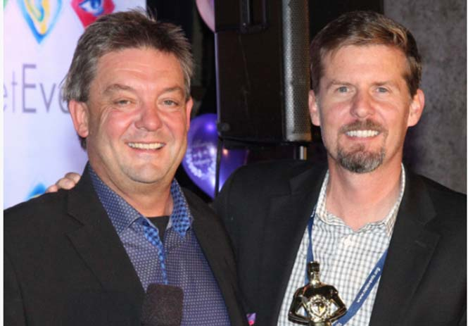 Innovation Idol Award Winner, Stuart McClure, with Mark Fox, CEO NetEvents