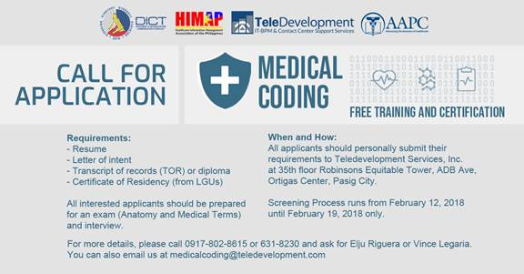 Filipino ICT experts to train as US medical coders, billers