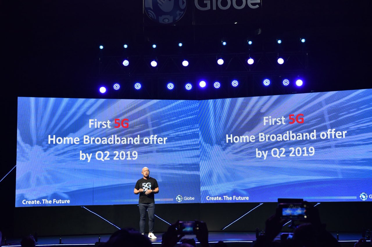 Globe to roll out 5G home broadband service by Q2 2019