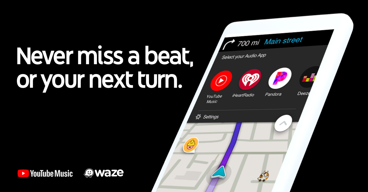Waze signs up YouTube Music as newest audio player partner